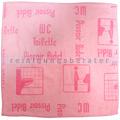 Mikrofasertuch Mopptex Piktogramm WC-Toilette Rot 40 x 40 cm