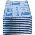 Mikrofasertuch Mopptex Piktogramm Wohnraum Blau 40 x 40 cm