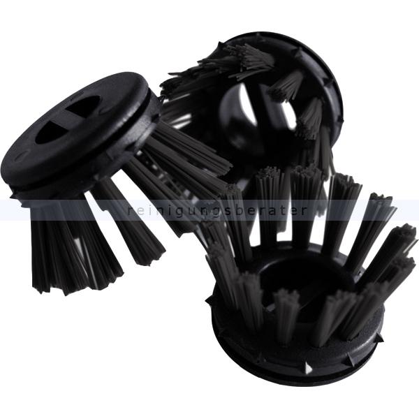 Miltex Rundbürsten-Satz für Gummiwabenmatte mit 10 Stück schwarz 3128