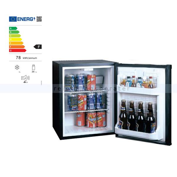 Minibar Simex Black Line Minikühlschrank schwarz 34 L Minikühlschrank, geringer Geräuschpegel und Stromverbrauch 05141
