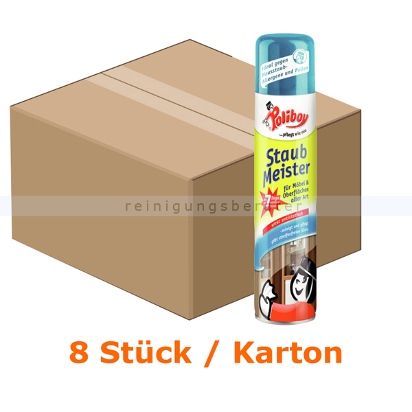 m belpflege poliboy staubmeister spray 8 st ck je 300 ml. Black Bedroom Furniture Sets. Home Design Ideas