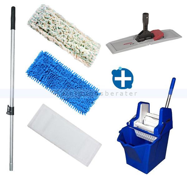 Mop-Set Putzeimer Cleanboy 15 L mit Presse blau im Set