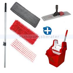 Mop-Set Putzeimer Cleanboy 15 L mit Presse rot im Set