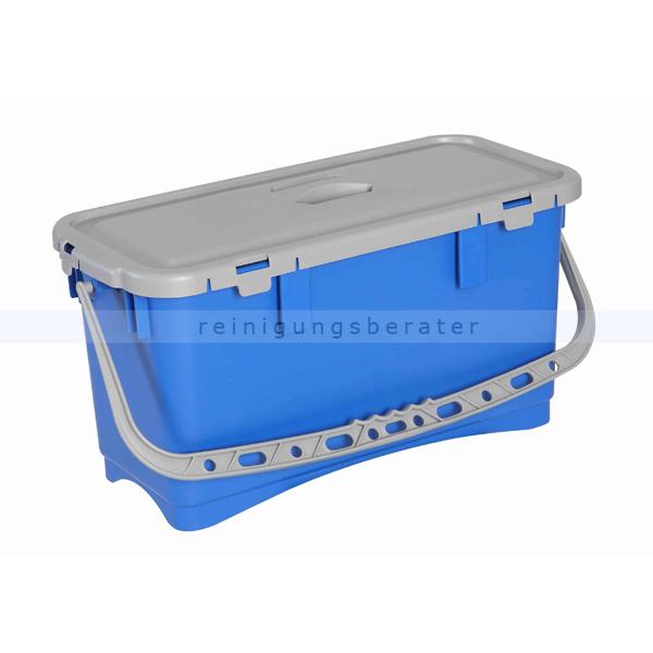 Mopbox mit Deckel und Henkel 20 L blau