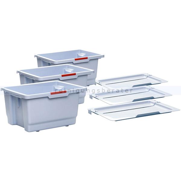 Vileda VoleoPro StarterKit Mopbox und Deckel passend für VoleoPro Standard Reinigungswagen 145234