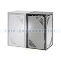 Müllbehälterschrank VAR MBS 3 Erweiterungselement silber