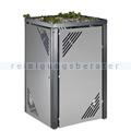 Müllbehälterschrank VAR MBS 7 Erweiterungselement silber