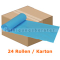Müllbeutel Abena Saekko Boy 60 L blau 10 Stück/Rolle Karton