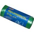 Müllbeutel Reinex grün mit Tragegriff 20 L 8 my, 30 St/Rolle