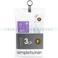 Müllbeutel Simplehuman code F, 3x Pack mit 20 Stück, 25-30 L