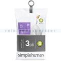 Müllbeutel Simplehuman code G, 3 x Pack mit 20 Stück, 30 L