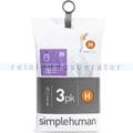 Müllbeutel Simplehuman code H, 3x Pack mit 20 Stück, 30-35 L