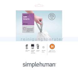 Müllbeutel Simplehuman code H, Pack mit 20 Stück. 30-35 L