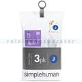 Müllbeutel Simplehuman code J, 3x Pack mit 20 Stück, 30-45 L