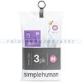 Müllbeutel Simplehuman code M, 3 x Pack mit 20 Stück, 45 L