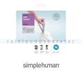 Müllbeutel Simplehuman code N, Pack mit 20 Stück, 45-50 L