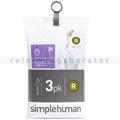 Müllbeutel Simplehuman code R, 3 x Pack mit 20 Stück, 10 L