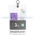 Müllbeutel Simplehuman code U, 3 x Pack mit 20 Stück, 55 L