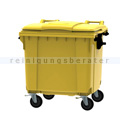 Müllcontainer fahrbarer Container 1100 L gelb