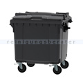Müllcontainer fahrbarer Container 1100 L grau
