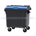 Müllcontainer fahrbarer Container 1100 L grau, blau