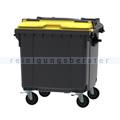 Müllcontainer fahrbarer Container 1100 L grau, gelb
