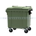 Müllcontainer fahrbarer Container 1100 L grün