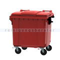 Müllcontainer fahrbarer Container 1100 L rot