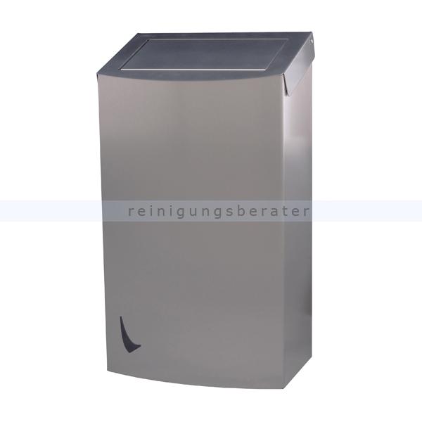Mülleimer Abfallbehälter Edelstahl 56 L mit Push Deckel