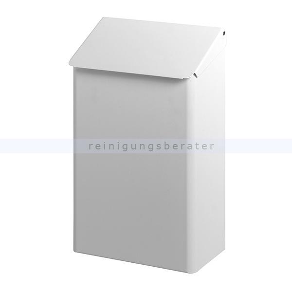 dutch bins abfallbeh lter metall 7 liter wei mit deckel. Black Bedroom Furniture Sets. Home Design Ideas