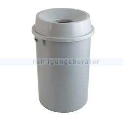 Mülleimer Abfallbehälter mit offenem Oberteil, 60 L Grau