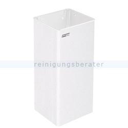 Mülleimer Abfallbehälter Stahlblech weiß 80 L offen