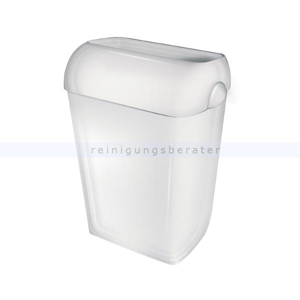 All Care PlastiQline 23 L weiß halb offen Mülleimer mit halb offenen Deckel 5651