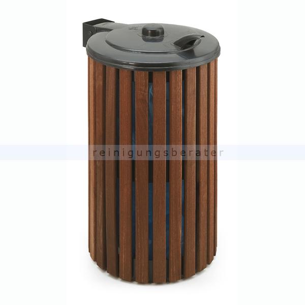 Mülleimer Außenbehälter aus Holz 110 L Grün, Holz