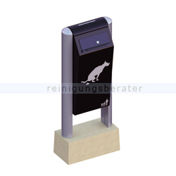 Mülleimer Außenbehälter BINsystem Hundetoilette schwarz 60 L