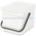 Mülleimer Brabantia Sort & Go Bio Abfalleimer 6 L weiß