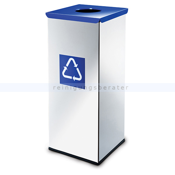 Recycling Mülleimer easybin eco flex 50 l silber blau gloss recycling mülleimer