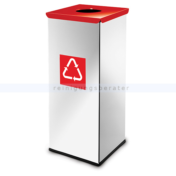 easybin eco flex 50 l silber rot gloss recycling m lleimer. Black Bedroom Furniture Sets. Home Design Ideas