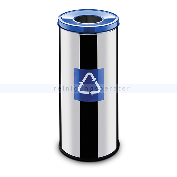 easybin eco flex 45 l silber blau gloss recycling m lleimer. Black Bedroom Furniture Sets. Home Design Ideas