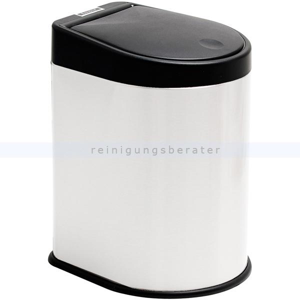 Mülleimer Easybin Trendy 3 L Edelstahl weiß mit praktischem Push-Deckel