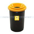 Mülleimer ECO 50 L mit offenem Oberteil, Aufdruck Kunststoff