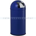 Mülleimer EKO Pushbin blau 40 L