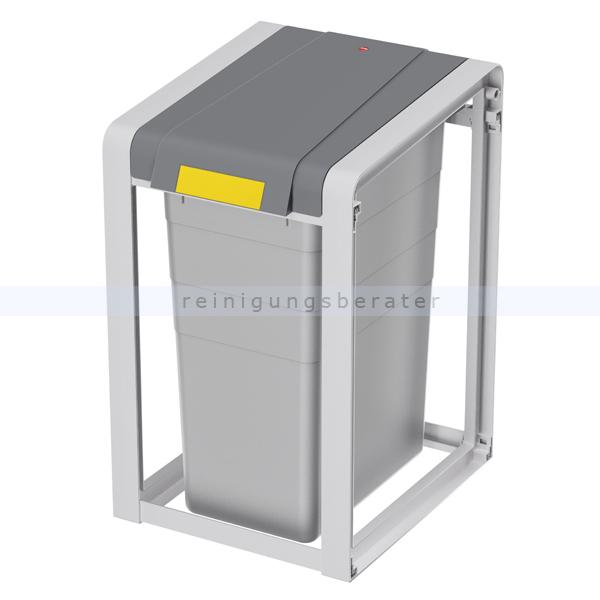 Mülleimer Hailo ProfiLine Öko 35 L, Basis Mülltrennsystem aus Kunststoff grau, Basiseinheit 0935-202