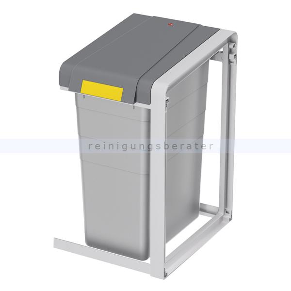 Mülleimer Hailo ProfiLine Öko 35 L, Erweiterung Mülltrennsystem aus Kunststoff grau, Erweiterungseinheit 0935-302