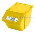 Mülleimer Knapsack Recycling-Box mit Deckel Gelb 45 L