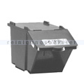 Mülleimer Knapsack Recycling-Box mit Deckel grau 45 L