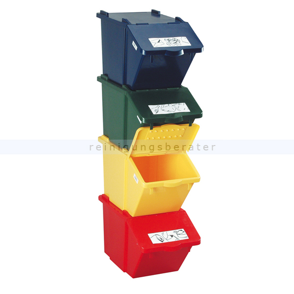 m lleimer knapsack recycling box mit deckel grau 45 l. Black Bedroom Furniture Sets. Home Design Ideas