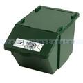 Mülleimer Knapsack Recycling-Box mit Deckel Grün 45 L