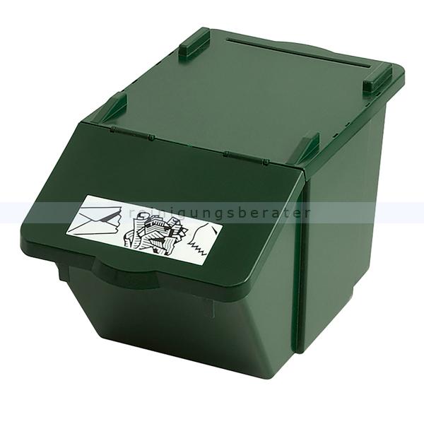 m lleimer knapsack recycling box mit deckel gr n 45 l. Black Bedroom Furniture Sets. Home Design Ideas