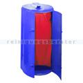 Mülleimer Kompakt Abfallbehälter galv. Stahl gepulvert blau